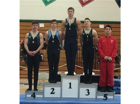 York Invite - Evan Baird, 2nd Place High Bar