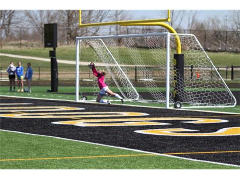 Meghan Diddia saving a Pk against Iowa's Top 3 ranked Dubuque-Hempstead High School