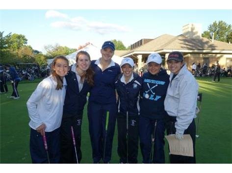 GIRLS GOLF VARSITY 6TH IN WSC 2015