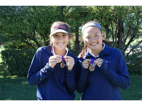 GIRLS GOLF VARSITY MEYER AND TOM-MEDALISTS 2015