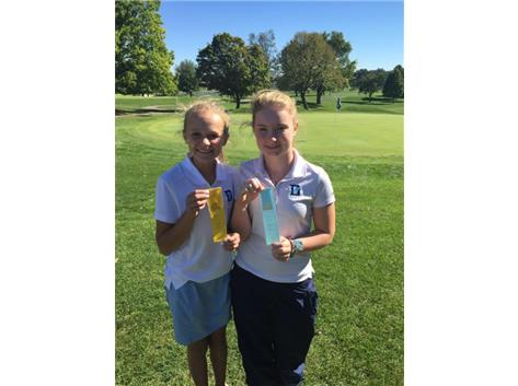 GIRLS GOLF JV CUSTER, PETRING--WSC MEDALISTS 2015
