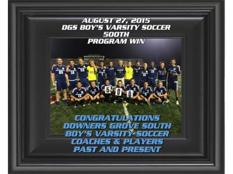 CELEBRATING A MILESTONE--WIN #500 FOR BOYS SOCCER