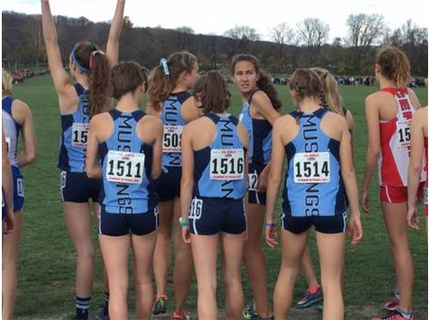 GIRLS XC IN THE STARTING BOX AT STATE 2015