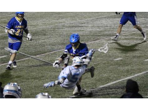 A big hit on Cannon Brackett with seconds remaining in the one goal loss to LT.