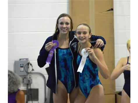 DGN Invite - Alyssa R.-1st Place 100 Yard Free  Jorie-3rd Place 100 Yard Free