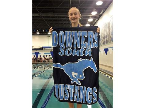 DGS Invite - Jorie-2nd Place 50 Yard Freestyle