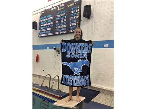 DGS Invite - Alyssa R.-1st Place 50 Yard Freestyle