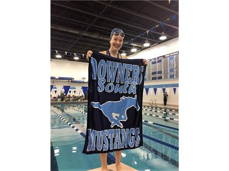 DGS Invite - Anna-6th Place 100 Yard Freestyle