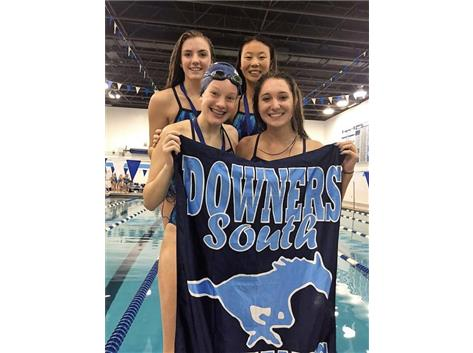DGS Invite - Allie, Annie, Anna, and Paige- 5th Place 200 Yard Freestyle Relay