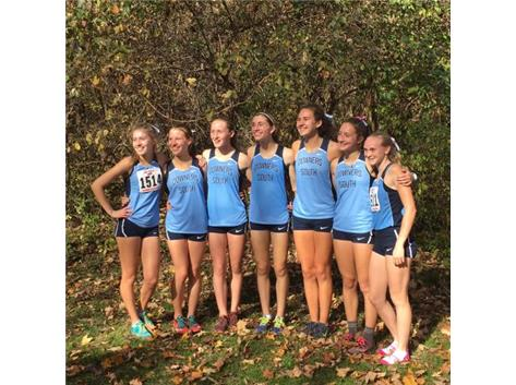GIRLS XC-4TH PLACE IN STATE.  BEST FINISH IN SCHOOL HISTORY!