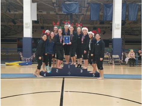 GIRLS GYMNASTS--AT INVITE CHAMPS FOR 2ND CONSECUTIVE YEAR!