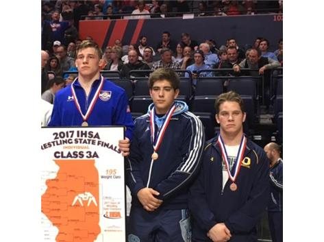 Sergio 3rd at 195 lbs. at IHSA State Tournament 2016-17