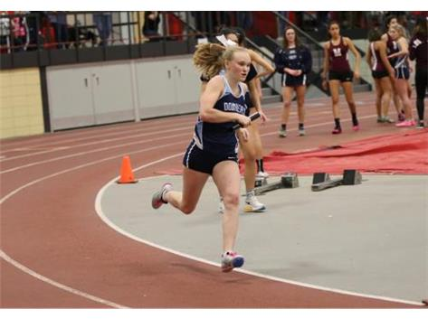 Erin holds two new Freshman records, the mile and the 800m run