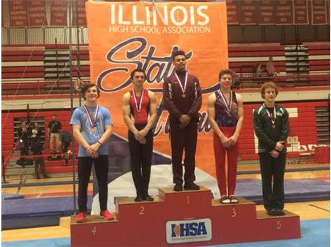 BEAU 4TH IN STATE ALL-AROUND BOYS GYMNASTICS 2017