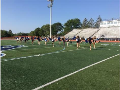 DANCE TEAM PREPARES FOR HALF TIME PERFORMANCE