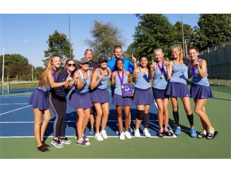 GIRLS TENNIS CHAMPIONS AT BLOOMINGTON INVITE!