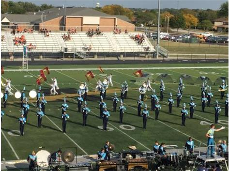 MARCHING BAND SCORING WELL AT ANDREW