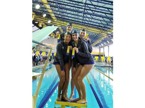 Makaila, Jillian, Annie and Allie - 4th Place 500 Yard Freestyle Relay