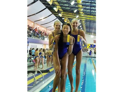 Melanie, Annie and Madeline - 6th Place 300 Yard Butterfly Relay