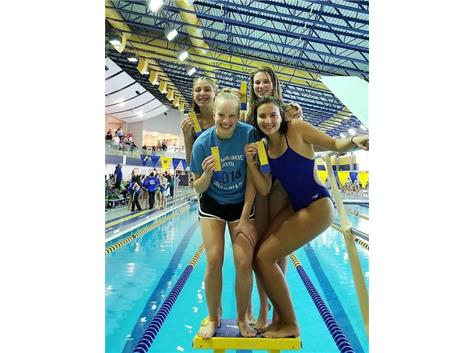 Madeline, Jillian, Anna and Nicki - 5th Place 400 Yard Freestyle Relay