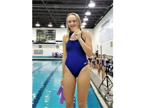 Jorie - 1st Place 50 Yard Freestyle