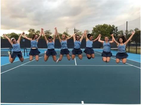 GIRLS TENNIS CELEBRATING 18-9 SEASON IN 2017