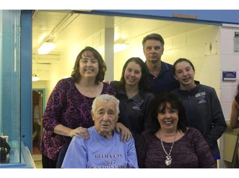 Kaitlyn, Madison and their parents and grandparents