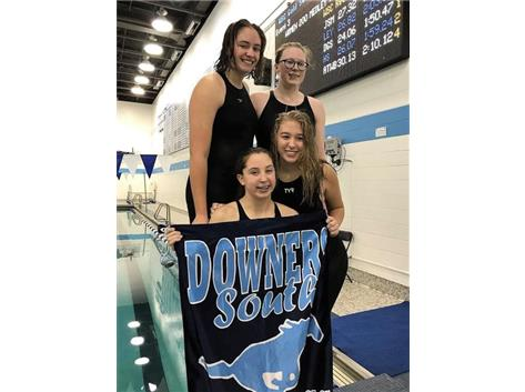 Kate, Tavish, Maddie and Kylie - 1st Place F/S 200 Yard Medley Relay
