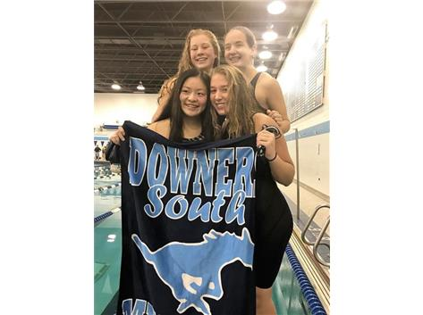 Mackenzie, Mary, Katie and Kylie - 1st Place 200 Yard Freestyle Relay