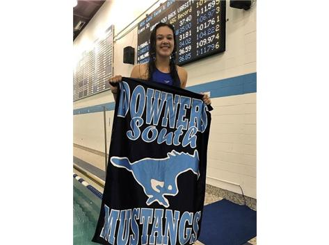 Isabelle - 1st Place JV 100 Yard Backstroke