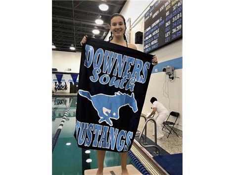 Nicole - 1st Place Varsity 100 Yard Backstroke