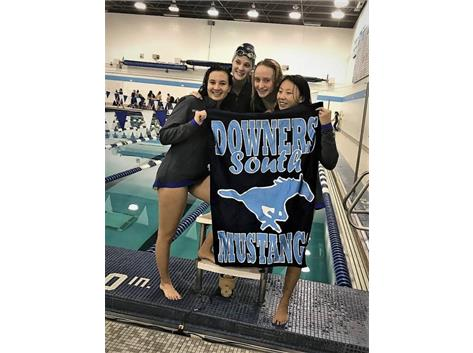Nicole, Makaila, Jorie and Annie - 1st Place Varsity 400 Yard Medley Relay