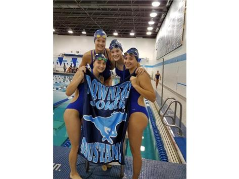 Melanie, Makaila, Jorie and Nicki - 1st Place 200 Yard Medley Relay