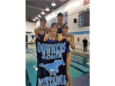 Makaila, Madeline, Melanie, and Jorie - 3rd Place 200 Yard Freestyle Relay