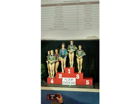 ABBY TAKES 2ND AT STATE ON THE FLOOR!