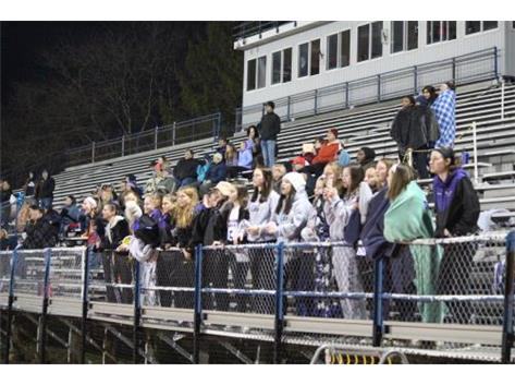 The DG Girls lacrosse team and other fans cheering the boys on!