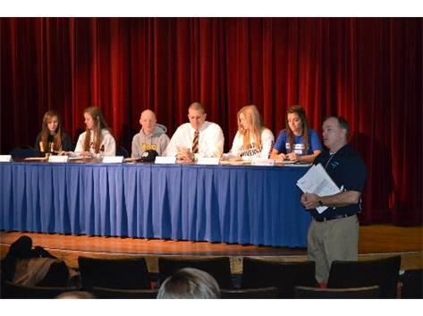 SEVEN ATHLETES SIGN LETTERS OF INTENT WITH COLLEGES 2/1/12