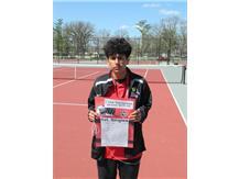 Esteban Esquivel takes 1st. at 1st singles!