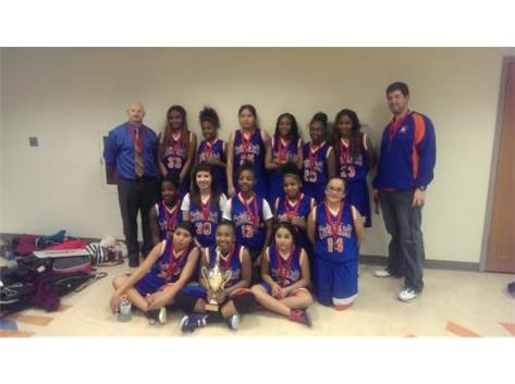 Cowherd 7th grade girls place 2nd in City of Lights Championship. Congratulations on a great season