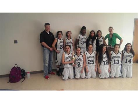Congratulations to Simmons 8th grade girls basketball team.