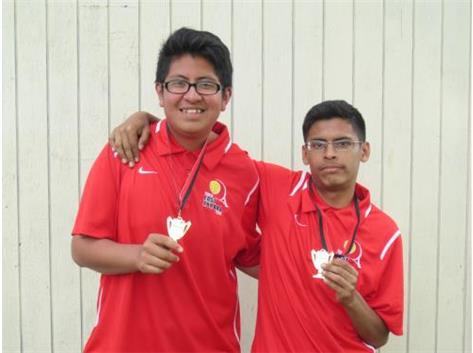 Luis Galvaz & Leo Meraz 2nd. place- 4th. doubles