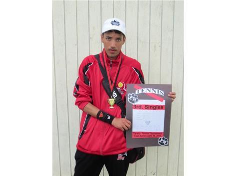 Jesus Suarez -1st. place-3rd. singles