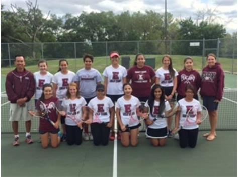 2015 Girls Varsity Tennis Team