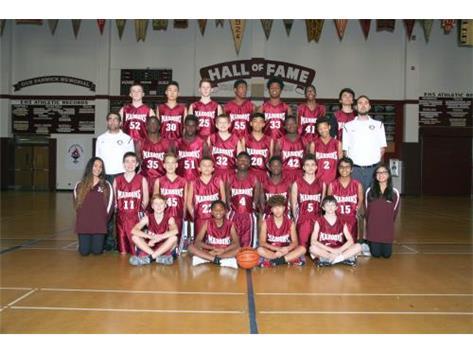2015-2016 Boys Freshmen Basketball Team