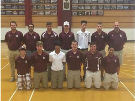 2016 Boys Golf Team