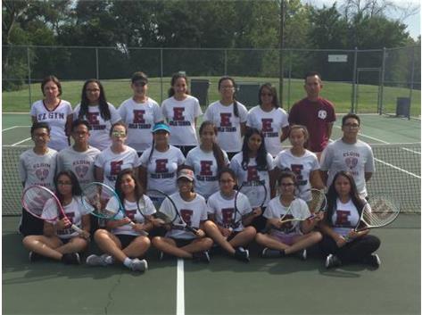 2016 Girls JV Tennis Team