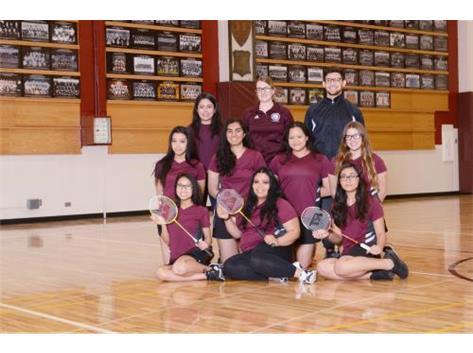 2018 Varsity Badminton Team