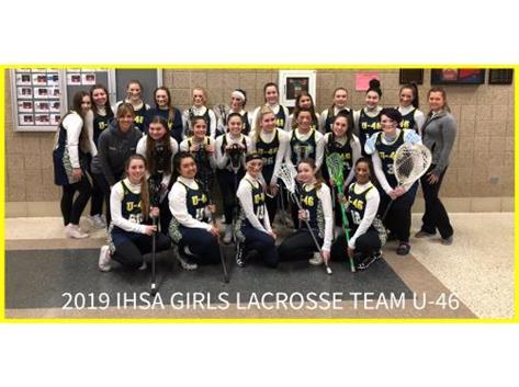 2019 U46 Girls Lacrosse Team