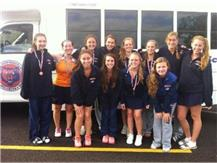 Girls Tennis took 2nd at the Hawk Invite behind host Maine South Saturday, September 21, 2013, in the 8-team tournament.