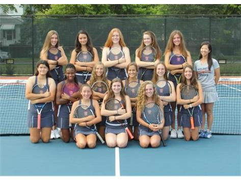 "<br> <font size=""4"">Girls Varsity Tennis Team</font> <br><br> <font size=""3"">( 2016 - 2017 )</font> <br><br><b>Fall</b>"